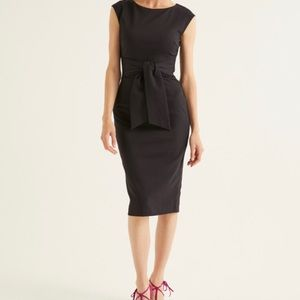 NWT Boden Black Jessica Ponte Dress, size US 6P